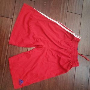 Boys Red White & Blue Adidas Shorts
